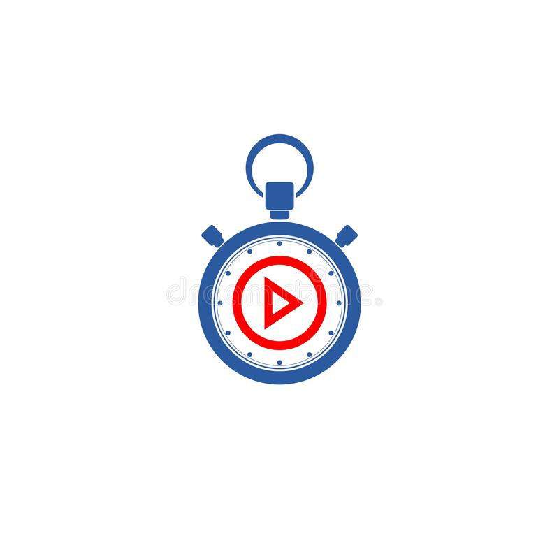 Simple Play button logo media player vector royalty free illustration