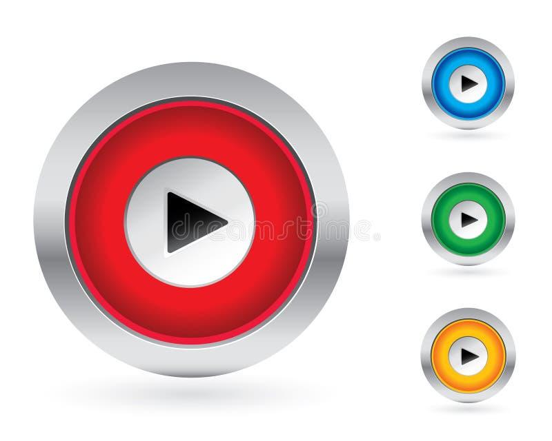 Play button set vector illustration
