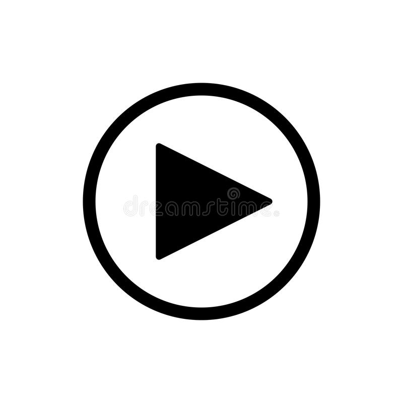 play button vector icon in linear style isolated on white audio or rh dreamstime com play button vector png play button vector free download