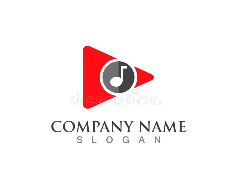 Play button vector logo media player vector. royalty free illustration