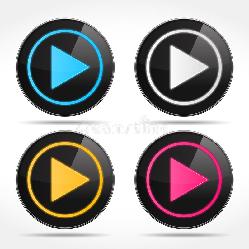 Play Buttons royalty free illustration