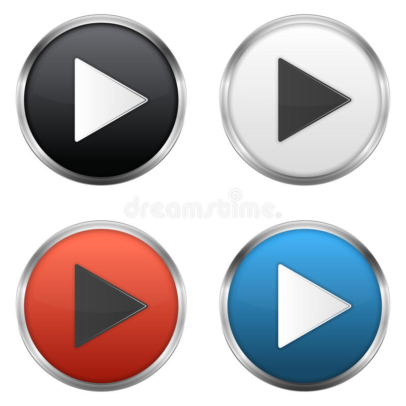 Download Play Buttons stock vector. Illustration of blue, icon - 36504523