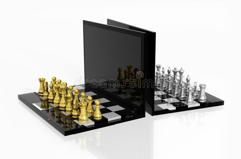 Download Play Chess online stock illustration. Image of cyber - 27050057