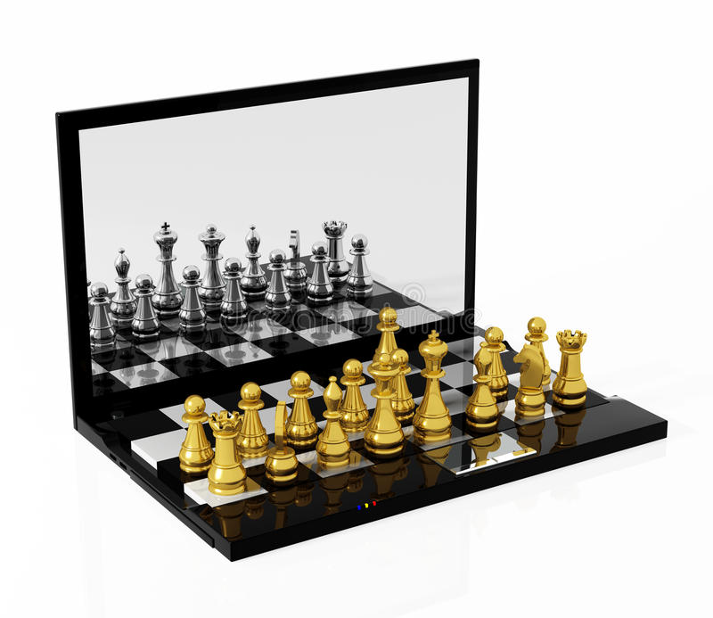 Download Play Chess online stock illustration. Illustration of chessboard - 27050103