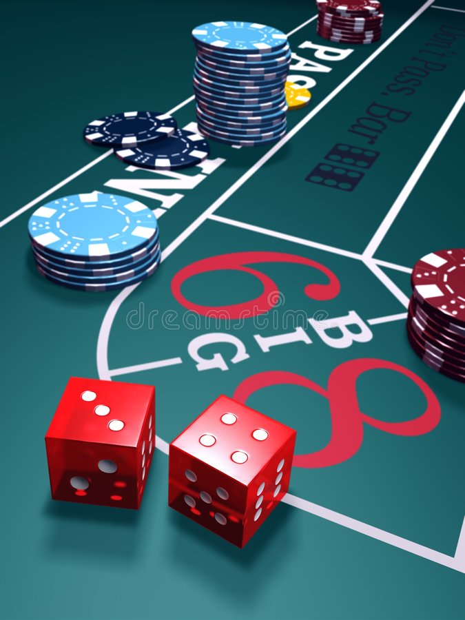 Play Craps stock image