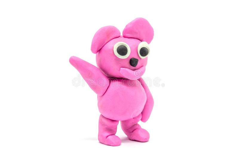 Play dough Bear on white background.  royalty free stock photography