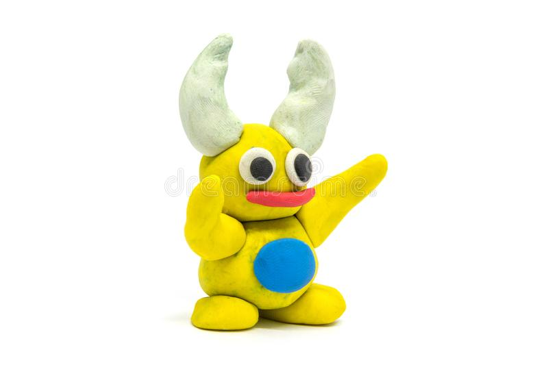 Play dough Beetle on white background.  stock images