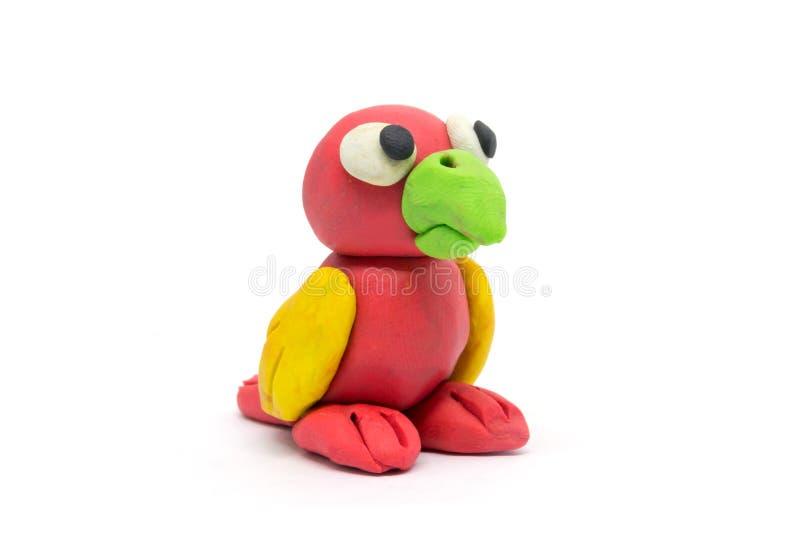 Play dough Bird on white background.  royalty free stock image