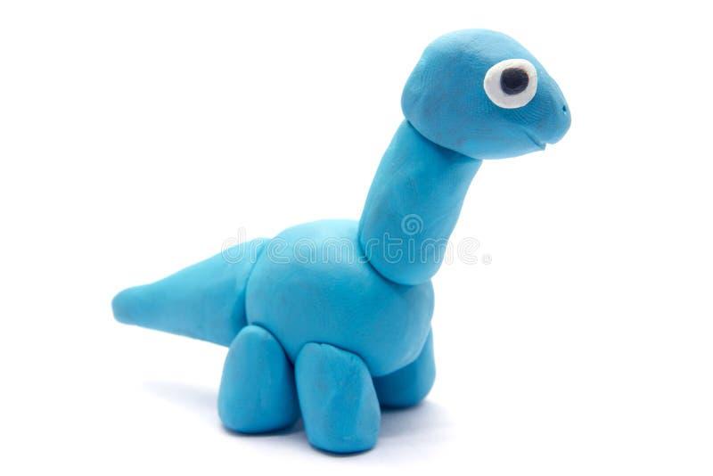 Play dough Brachiosaurus on white background.  royalty free stock photo