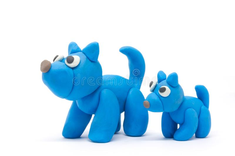 Play dough Dog on white background.  stock photography