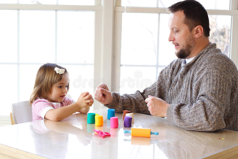 Play Dough Game Royalty Free Stock Images