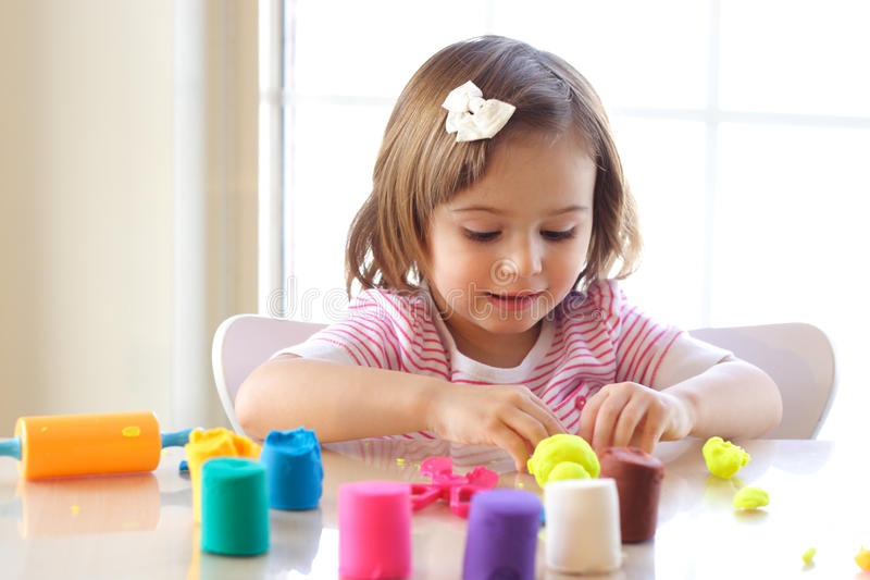 Play Dough Game Royalty Free Stock Photography