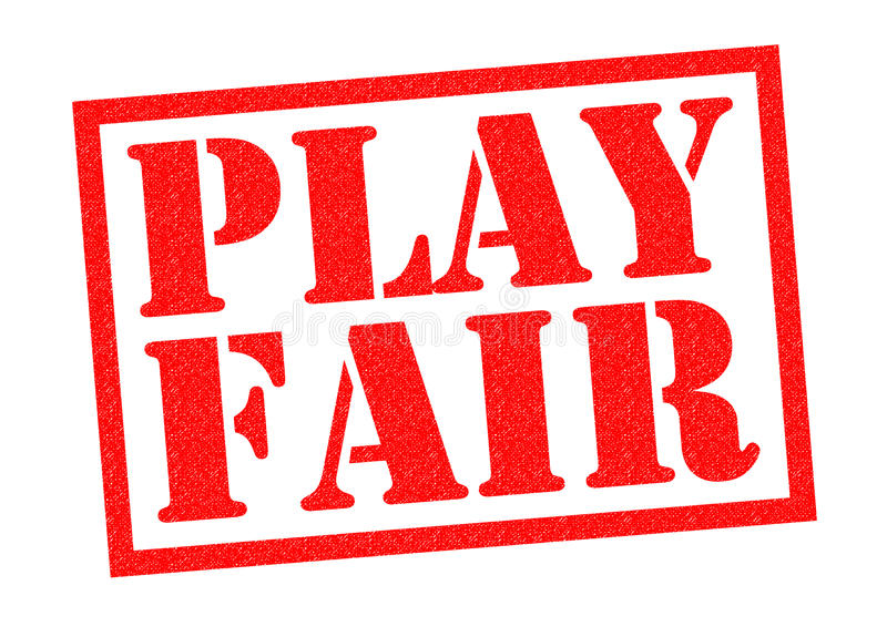 PLAY FAIR royalty free illustration