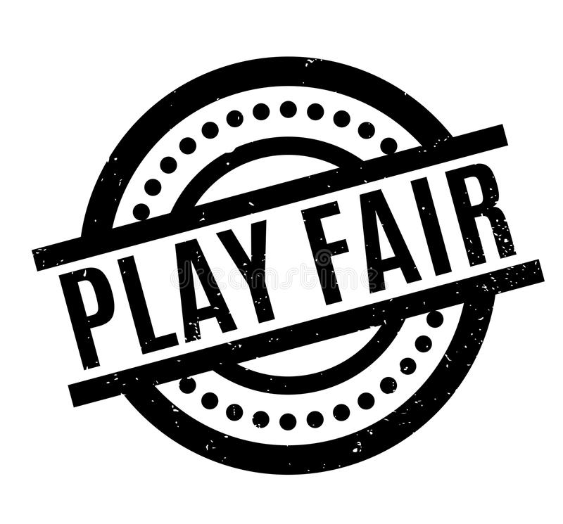 Play Fair rubber stamp vector illustration