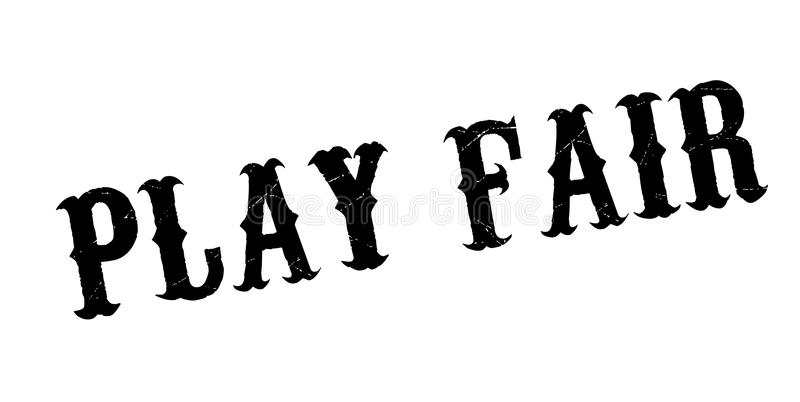 Play Fair rubber stamp royalty free illustration