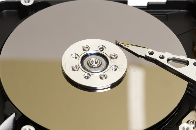 Play it fast. Closeup of the Hard Drive platter royalty free stock images