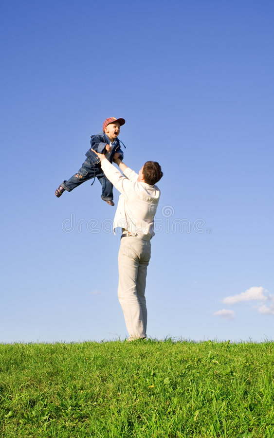 Play with father 4 stock image