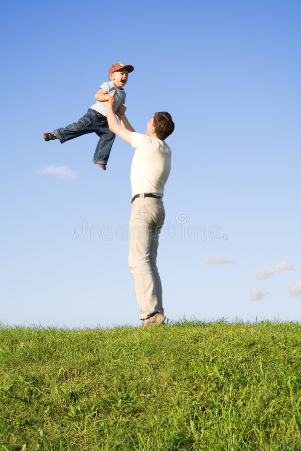 Play With Father 5 Royalty Free Stock Image