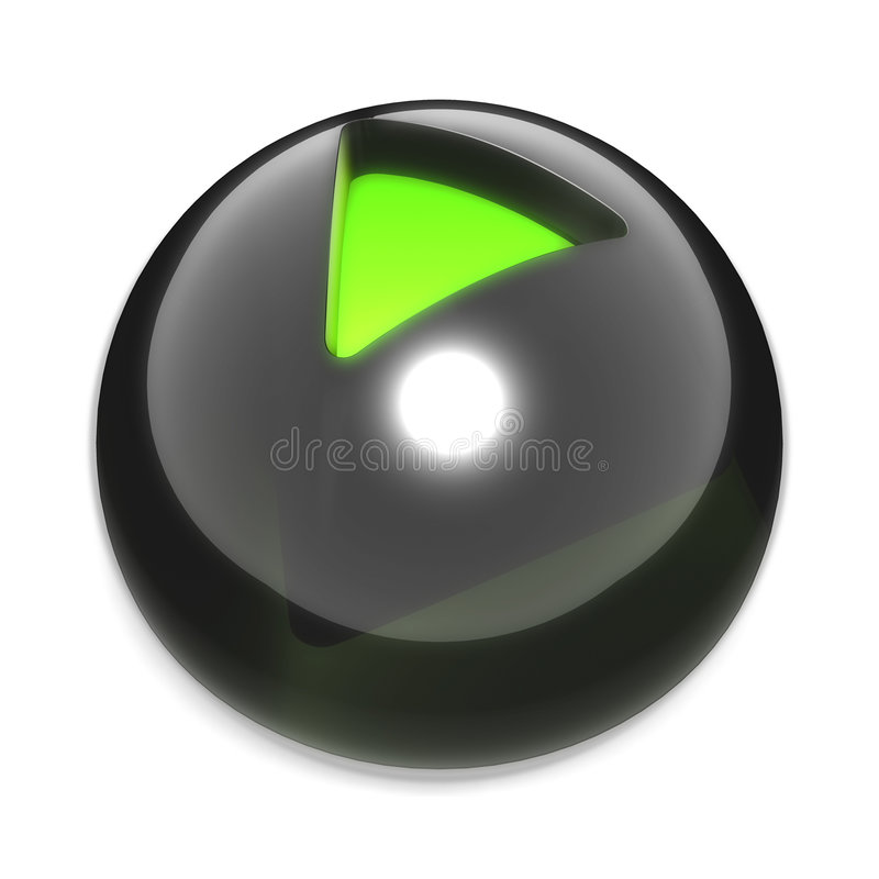 Download Play glass button stock illustration. Image of press, media - 7625878