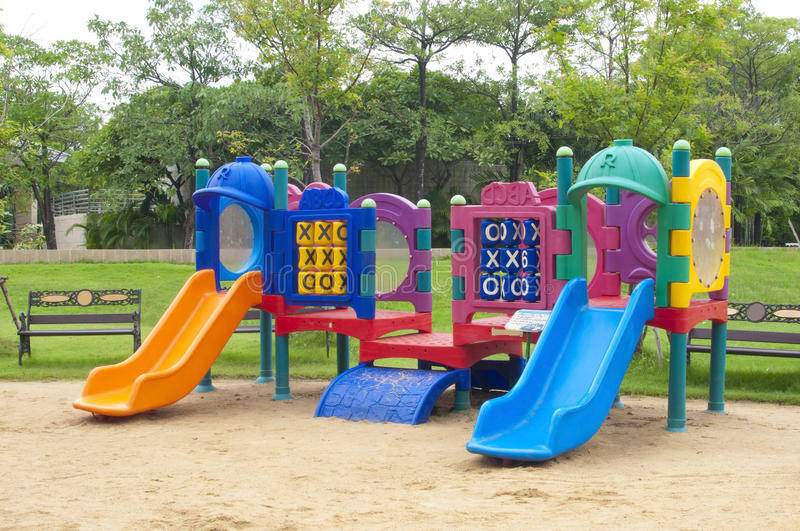 Play ground. In park of thailand stock images