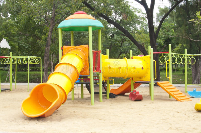Play ground. In park of thailand royalty free stock image