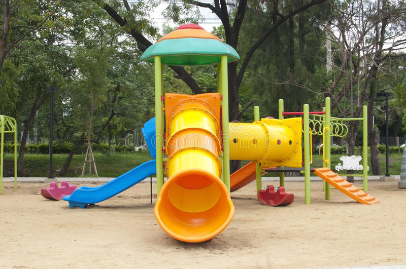 Play ground. In park of thailand royalty free stock photography