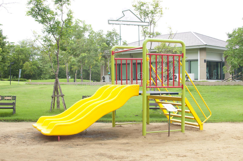Play ground. In park of thailand stock photo