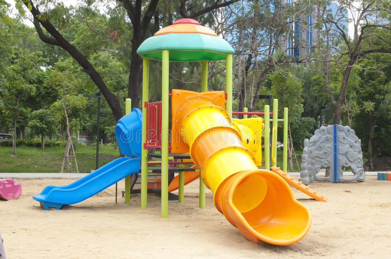 Play ground. In park of thailand royalty free stock images