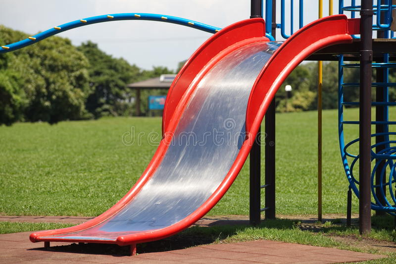 Play ground. And blue sky in pubic park royalty free stock images