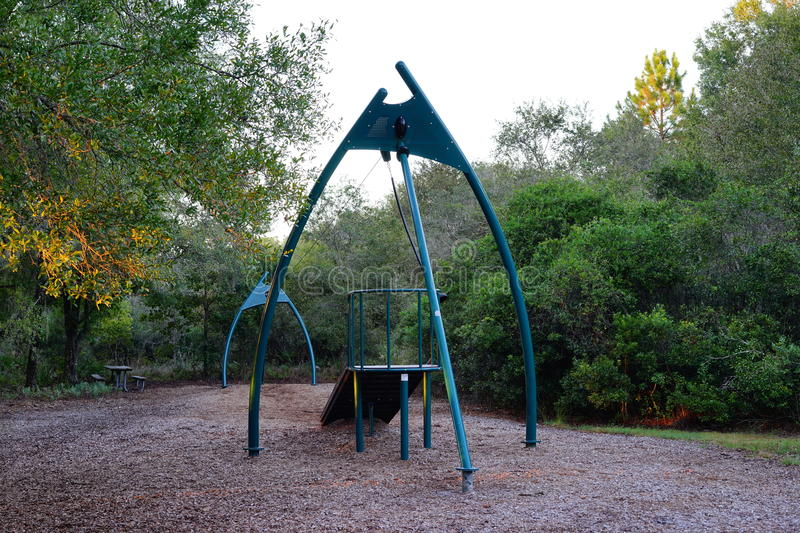 Play ground. Flatwood park in tampa, FL stock photos