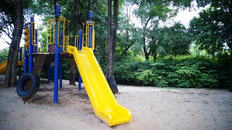 Play ground. In garden and park stock photography