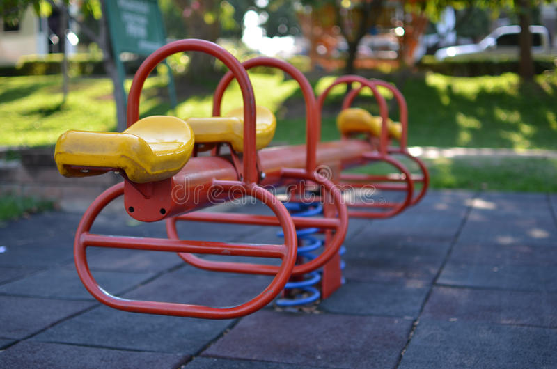 Play ground. For kid ,relaxing time in the park in town royalty free stock image