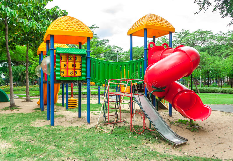 Play ground. This is a Play Ground in the park royalty free stock photo