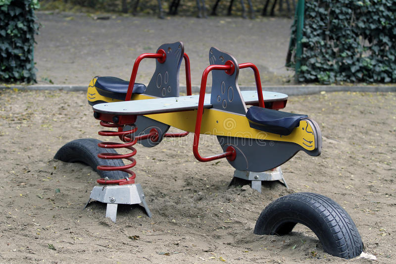 Play ground. In a public park royalty free stock image