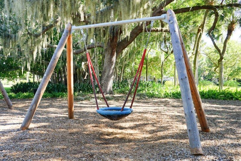 Play ground swing. A play ground swing taken in ringling museum, sarasota, Florida stock image