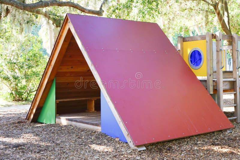 Play ground triangle climbing wall. A play ground triangle climbing wall taken in ringling museum, sarasota, Florida stock photos