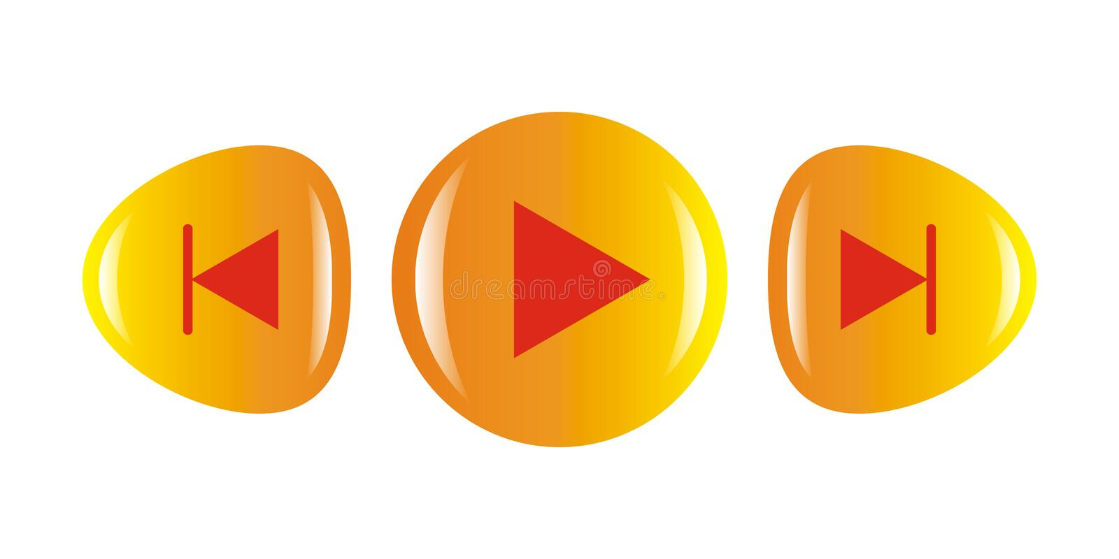 Download Play icon stock vector. Image of music, control, computer - 8370190