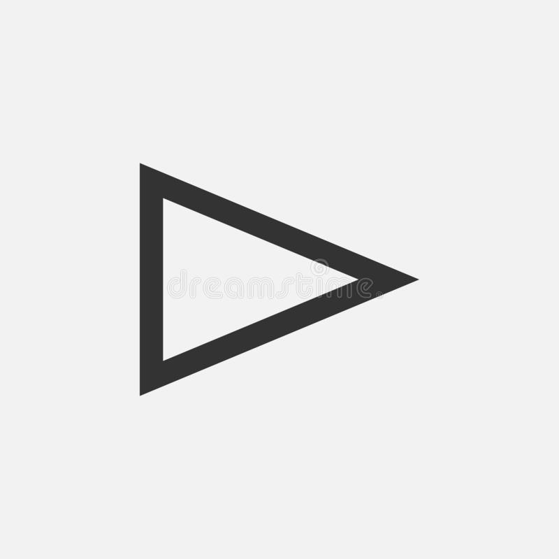Play icon, audio, music, video royalty free illustration