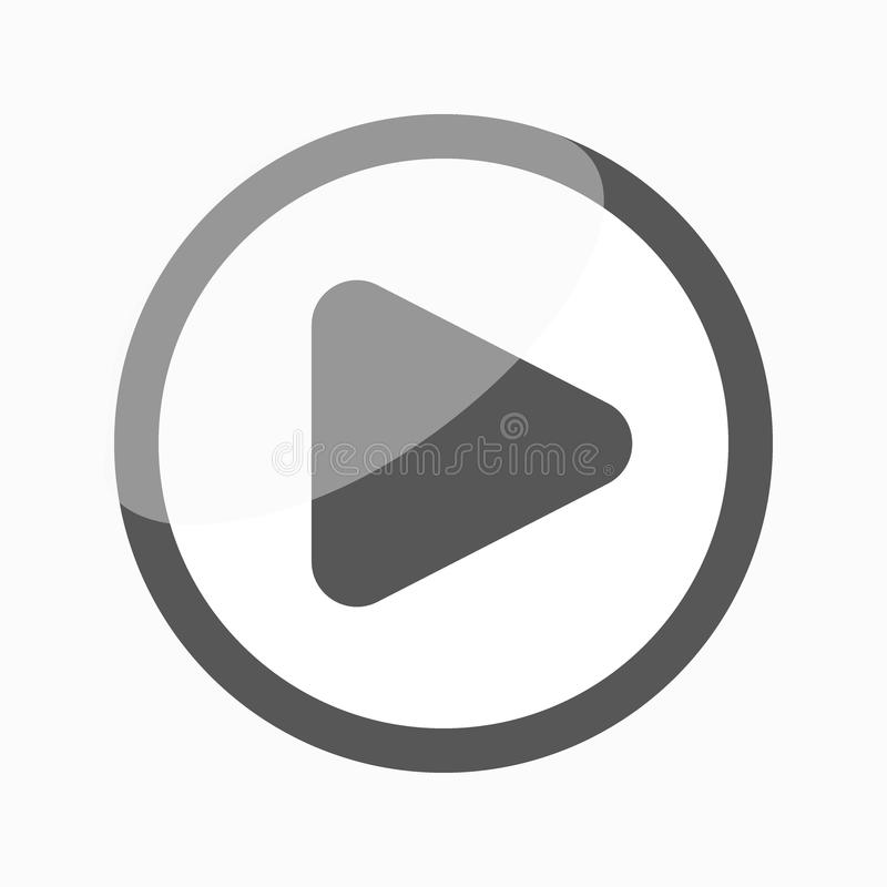 Play Icon / Button. Play icon, video media player stock illustration