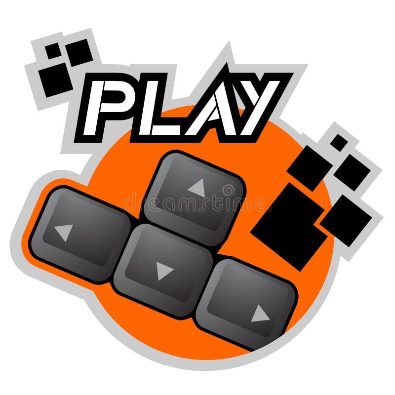 Play Key Royalty Free Stock Photo