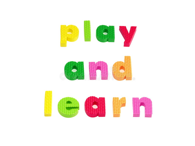 Play and learn stock image