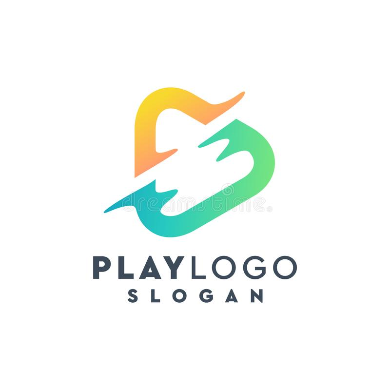 Play logo design,vector,illustration ready to use. Awesome play logo design,vector,illustration ready to use for your company royalty free illustration
