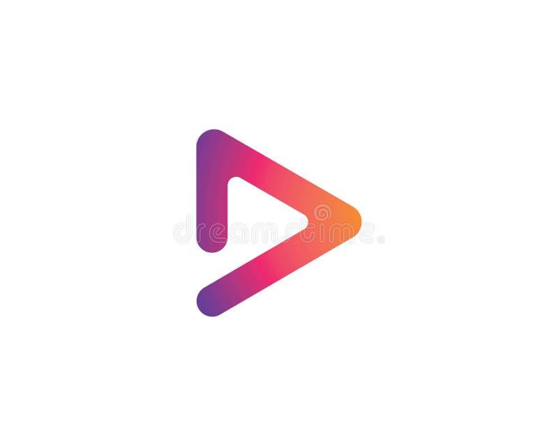 Play logo Vector. Icon template stock illustration