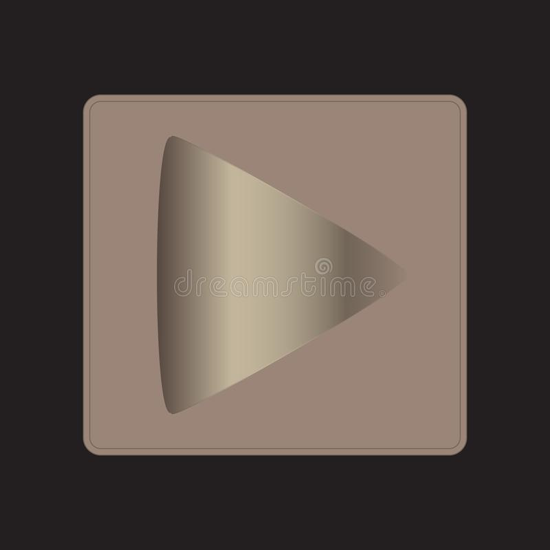 Play Metal Gradient Button vector illustration