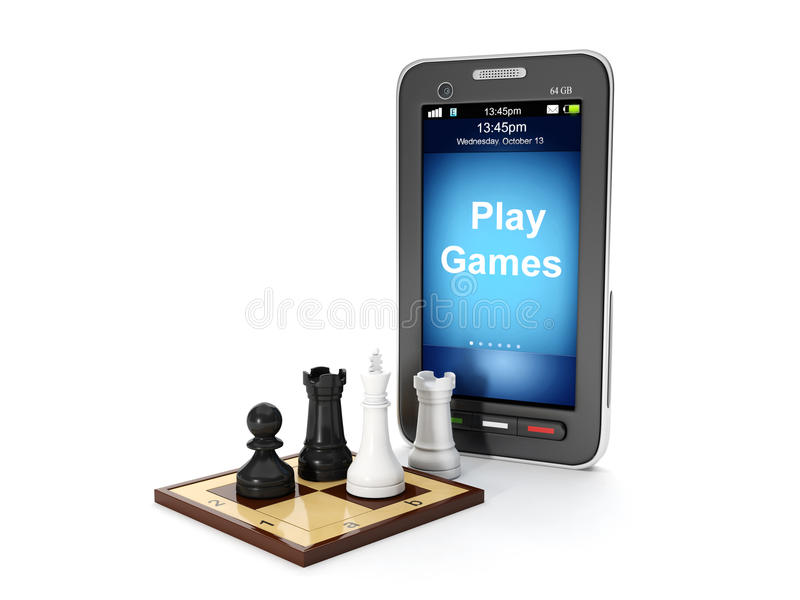Play Mobile Games Royalty Free Stock Photos