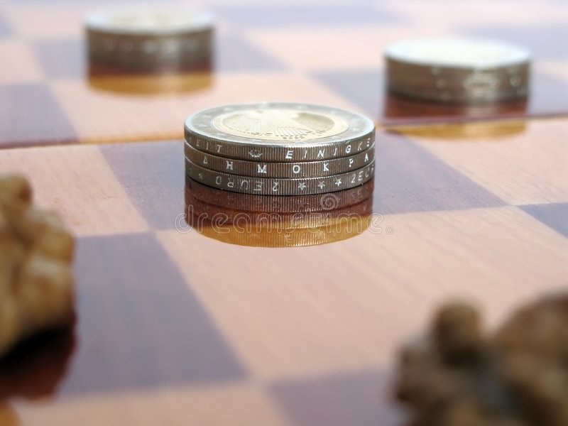 Play for money royalty free stock images