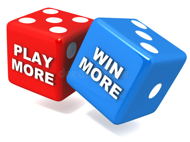 Play More Win More Stock Photo