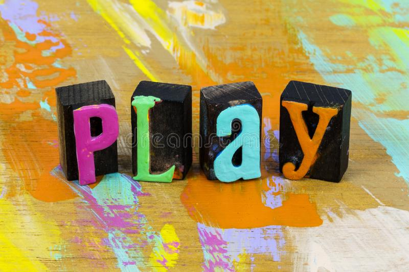 Play often and nice have fun children on playground royalty free stock photos