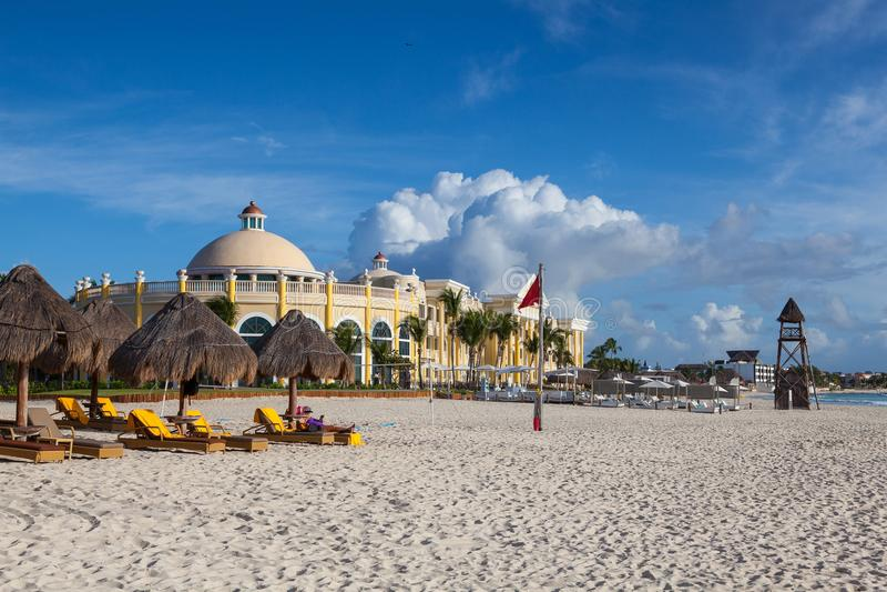 On the Play Paraiso at Caribbean Sea of Mexico. royalty free stock photo