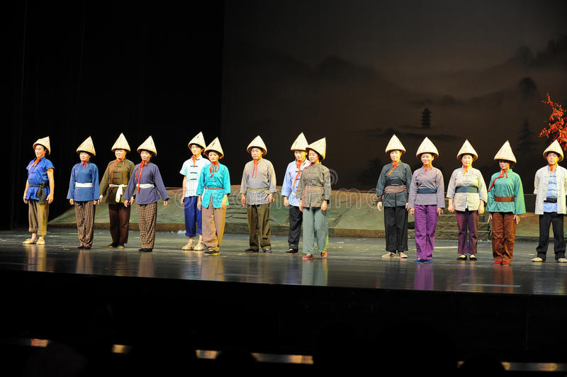 Play the porters of the performers bow- Jiangxi opera a steelyard. Jiangxi opera a steelyard is adapted from a true story: the last century fortys, the royalty free stock photos